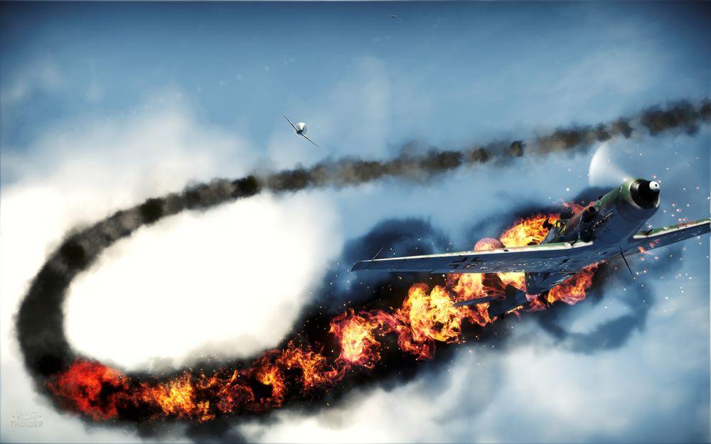 Avion derribado War Thunder