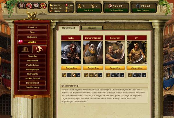 Juego de navegador gratuito gladiatus
